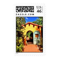 Southwestern Arched Doorway Garden Postage Stamps