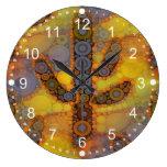 Southwestern Arizona Saguaro Cactus Mosaic Design Wall Clock