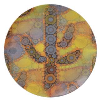 Southwestern Arizona Saguaro Cactus Mosaic Design Dinner Plate
