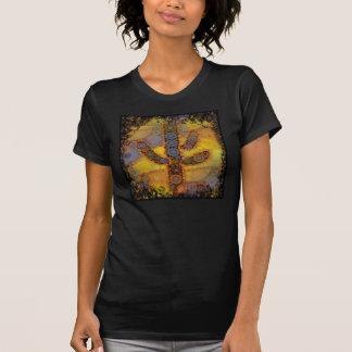 Southwestern Arizona Saguaro Cactus Mosaic Design Tshirts