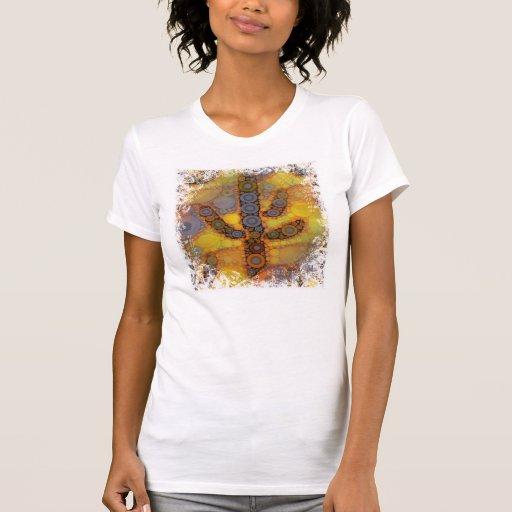Southwestern Arizona Saguaro Cactus Mosaic Design T-shirt