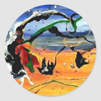 Southwestern Art - CricketDiane Art & Design Classic Round Sticker
