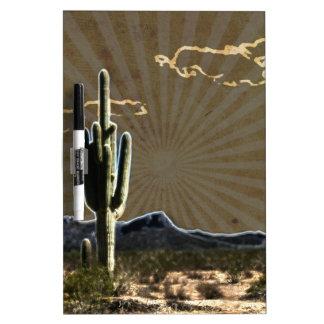 southwestern art Desert  succulent Saguaro Cactus Dry-Erase Board
