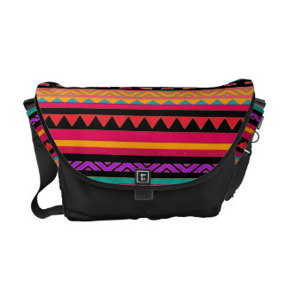 Southwestern Aztec Colorful Pattern Courier Bags