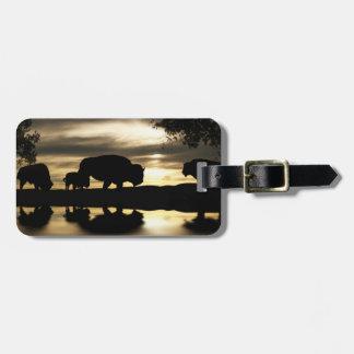 Southwestern Buffalo Luggage Tag