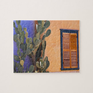 Southwestern Cactus (Opuntia dejecta) and Jigsaw Puzzle