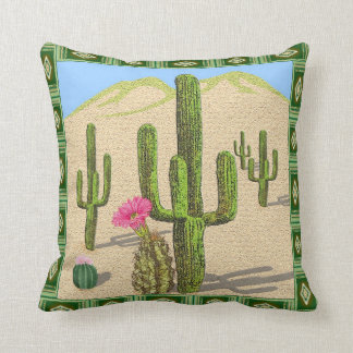 Western - southwestern cactus pillow