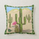 southwestern cactus pillow