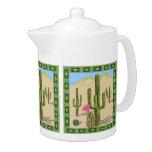 Southwestern Cactus Teapot