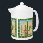 "Southwestern Cactus Teapot<br><div class=""desc"">desert cactus with shadows</div>"