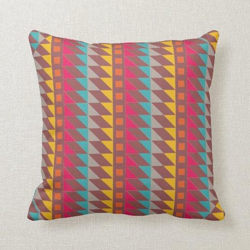 Southwestern Throw Pillows : Southwestern Colors geometric Design Throw Pillow Zazzle