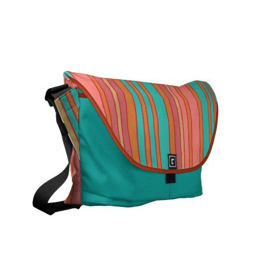 Southwestern Colors Striped Messenger Bag