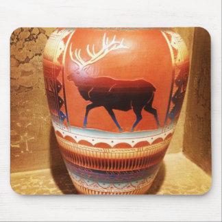 Southwestern Decor Vase featuring Elk Mouse Pad