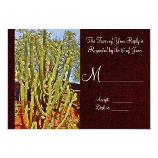 Southwestern Desert Cactus Wedding RSVP Cards