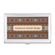 Southwestern Design Adobe Tan Gray Brown Business Card Holder