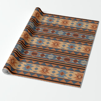 Southwestern Design Adobe Tan Gray Brown Wrapping Paper