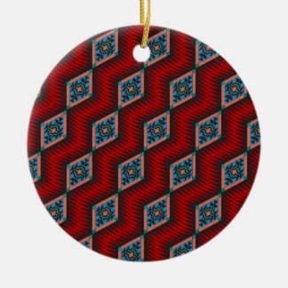 Southwestern Design Ceramic Ornament