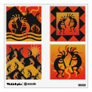 Southwestern Design Kokopelli 4 Piece Wall Sticker