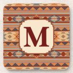 Southwestern Design Monogram Coasters