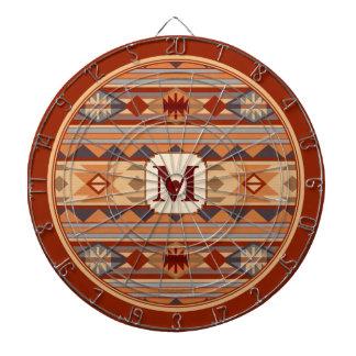 Southwestern Design Monogram Dartboard