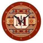 Southwestern Design Monogram Wallclock