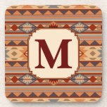 Southwestern Design Tan Monogram Coasters