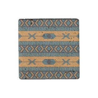 Southwestern Design Tribal Pattern Stone Magnet