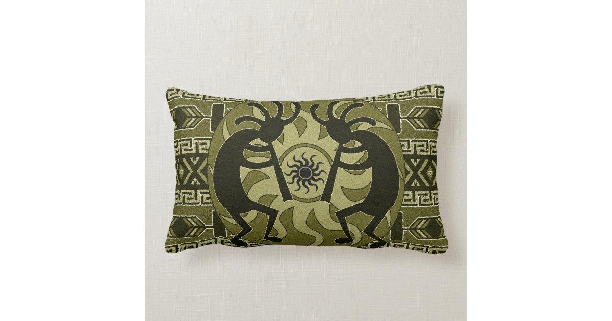 Southwestern Design Tribal Sun Kokopelli Lumbar Pillow Zazzle