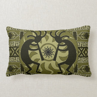 Southwestern Design Tribal Sun Kokopelli Lumbar Pillow