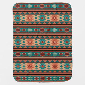 Southwestern Design Turquoise Terracotta Baby Blanket