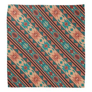 Southwestern Design Turquoise Terracotta Bandana