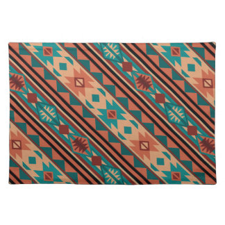 Southwestern Design Turquoise Terracotta Cloth Placemat
