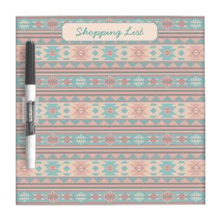 Southwestern Design Turquoise Terracotta Dry Erase Board