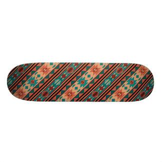 Southwestern Design Turquoise Terracotta Skateboard Deck