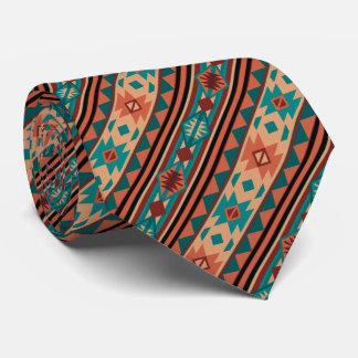 Southwestern Design Turquoise Terracotta Tie