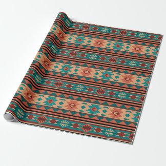 Southwestern Design Turquoise Terracotta Wrapping Paper