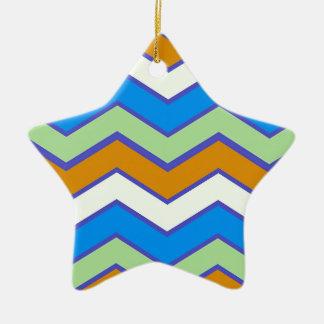 Southwestern Designer Majesty Zigzags Ceramic Ornament