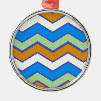 Southwestern Designer Majesty Zigzags Metal Ornament