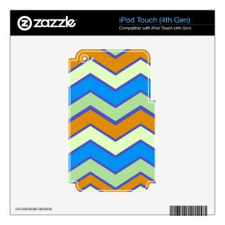 Southwestern Designer Majesty Zigzags Skin For iPod Touch 4G