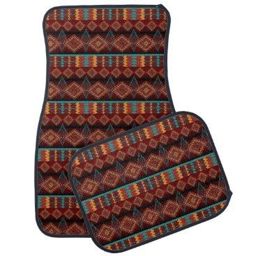 Aztec Themed southwestern ethnic navaio tribal pattern car floor mat
