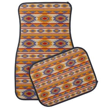 Aztec Themed southwestern ethnic navajo pattern car floor mat
