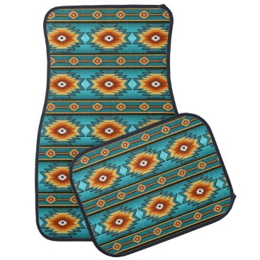 Aztec Themed southwestern ethnic navajo pattern car floor mat