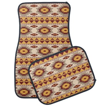 Aztec Themed southwestern ethnic navajo pattern car mat