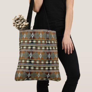 Aztec Themed southwestern ethnic navajo pattern tote bag