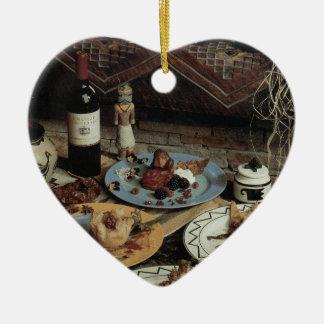 Southwestern Food Art Ceramic Ornament