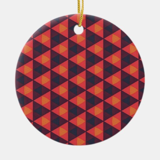 Southwestern Geometric Muted Series #2 Double-Sided Ceramic Round Christmas Ornament