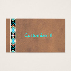 Southwestern Leather Business Cards at Zazzle