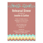 Southwestern Lizards Wedding Rehearsal Dinner Card