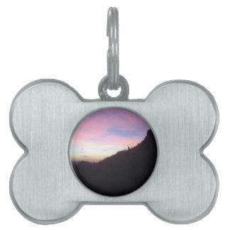 Southwestern Mountain sunset Pet Tag