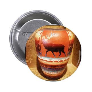 Southwestern Native American Art Vase with Elk Button